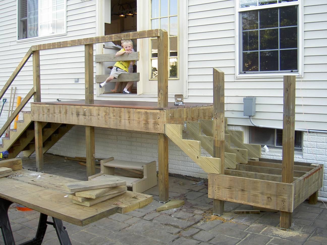 The Goodrum Family Home Page Thegoodrumfamily Landings For Deck Stairs Jlc Decks Staircases Framing